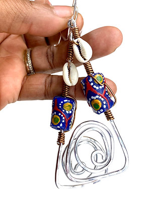 Around Me African Wired Earrings