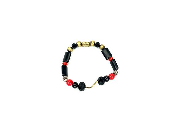 Dark wavy bronze oh mighty boho style bracelet