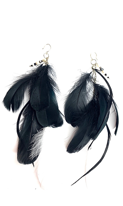 Flared Feather Diva Earrings