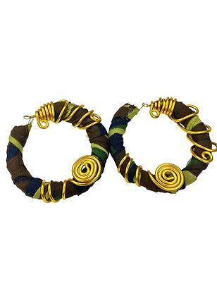 Sassy Sleek Camouflaged Gold Toned Hoop Earrings