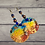 Thumbnail: Hand Painted Copper Silver Wood Beaded Earrings