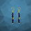 Thumbnail: Purple Golden Queen Earrings