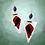Thumbnail: White Leather Triple Colored Dangle Fashion Earrings