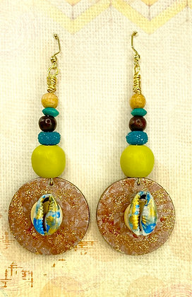 Colors Of Seasons Wooden Earrings