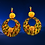 Thumbnail: Get To It Wooden Gold Popping Fashion Dangle Earrings