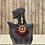 Thumbnail: Fluff  Spread Dangle Brown Brass Beaded Earrings