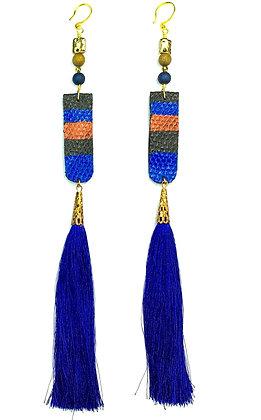 Leather Royal Tassle Earrings