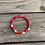 Thumbnail: Red and white cane boho trending slip on bracelet