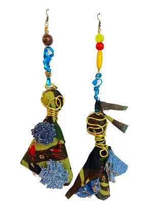 Unusual Camouflage Dream Connection Earrings