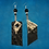 Thumbnail: Print Up Down Leather Rhinestone Fashion Earrings