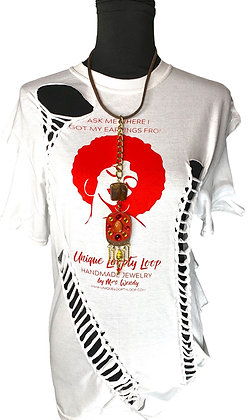 Unique Loopty Loop Red Head Distressed Tee