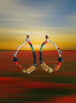 Cross Over Tribal Earrings