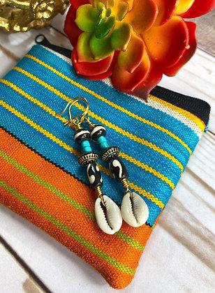 Blended Sensation Cowrie Earrings