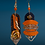 Thumbnail: Denim and Leather Chained Dangle Fashion Style Earrings