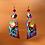 Thumbnail: Beauty Glass Top Polymer Statement Earrings