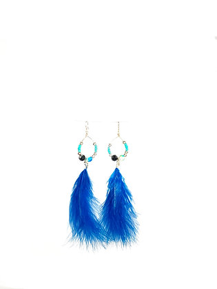 Canary swing wing feathered earrings