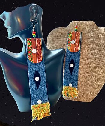 Denim Artist Stylish Shoulder Fashion Earrings