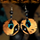 Thumbnail: Copper Black and Turquoise Drop Earrings