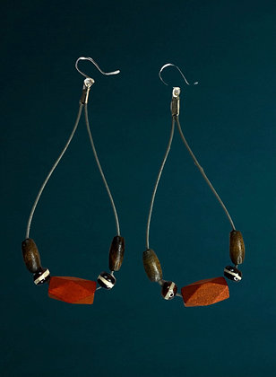 Brown Lady Soft Dangle Earrings