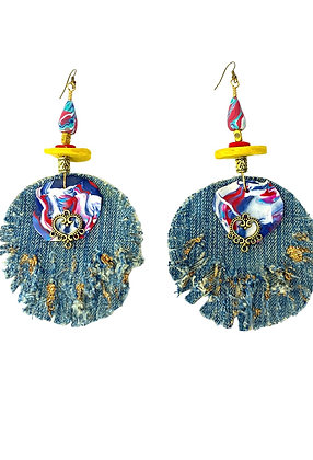 Windmill Denim Distressed Earrings