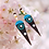 Thumbnail: Turquoise  and Brownie Pearl New Style Leather Earrings