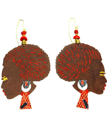 Lady Redd Handmade Wood Earrings