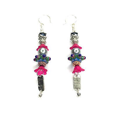Pinky Summer Flow Earrings