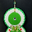 Thumbnail: Butter fly crochet oval green white casual chic necklace