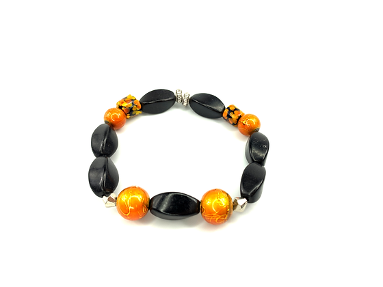 Orange reggae ready boho fashion style bracelet