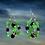 Thumbnail: Speedy Green Wire Entangled Earrings