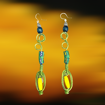 African Green Island  Earrings