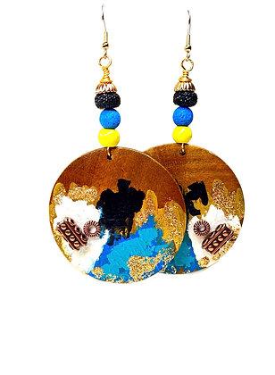 Shifting Beauty Boho Wood Dangle Earrings