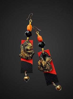 Charming Polymer Glitz Leather Fashion Earrings