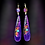 Thumbnail: Purple Fashion Art Style Wood Earrings