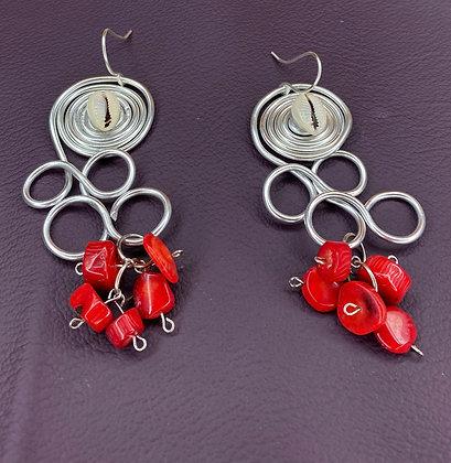 Amazing  Grace Coral Gemstone Earrings