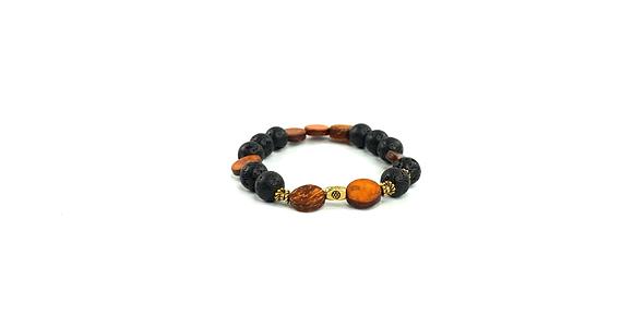 Matt top lava flow boho style bracelet