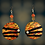 Thumbnail: Wide Eye Tiger Abstract  Woman Style Fashion Earrings