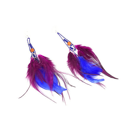 Airy wings of feather prissy chic earrings