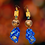 Thumbnail: Abstract Blue Polymer Clay Fashion Earrings