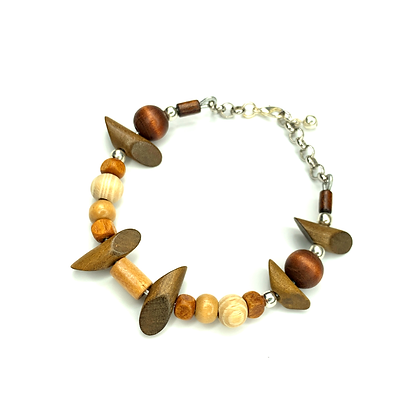 Wood world fashion alert bracelet