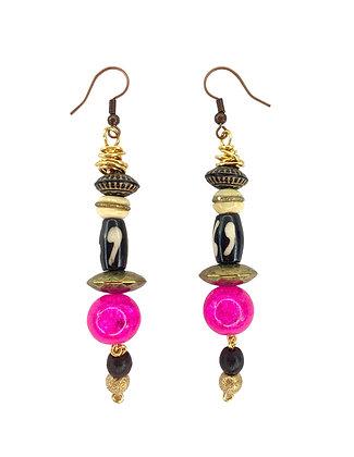 Dancing Pink Tribe Jeweled Earrings