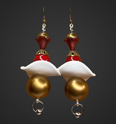 Triple Beaded Fashion Layered Earrings
