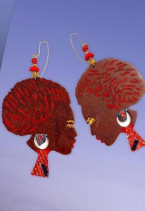 Lady Redd Handmade Wood Earrings