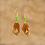 Thumbnail: Brown Blaze Cross Over Earrings
