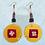 Thumbnail: Rustic Boho Flower Style Fashion Wood Dangle Earrings