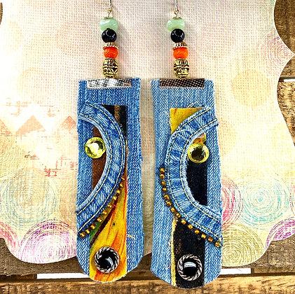 Majestic Denim Earrings
