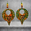 Thumbnail: Diva Trail Leather and Wood Painted  Fashion Earrings