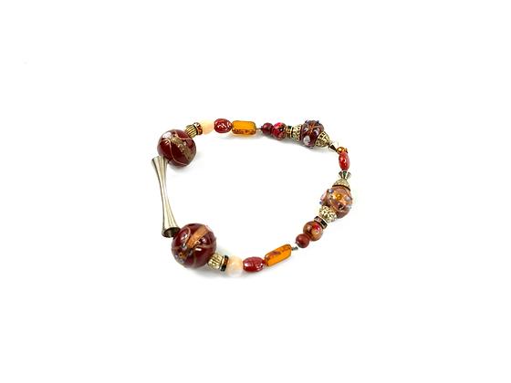 Classy bonn glass beaded bracelet