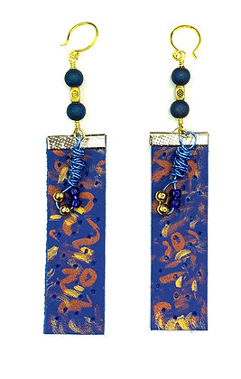 Royal Wired Leather Earrings