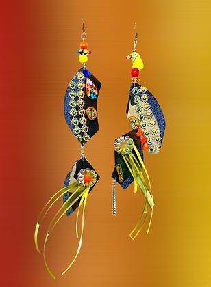 Double Denim Camouflage Dream Earrings